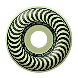 Spitfire Stay Lit Skateboard Wheels - Glow in the Dark