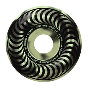 Spitfire Stay Lit 53mm Skateboard Wheels - Glow in the Dark Swirl