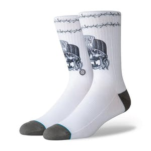 Stance No Mercy Crew Socks - White