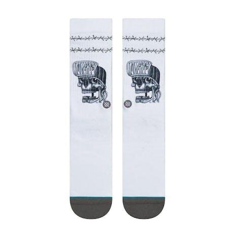 Stance No Mercy Crew Socks - White