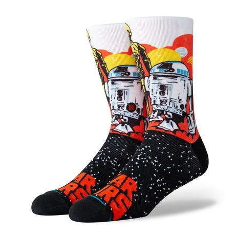 Stance Star Wars Crew Socks - Droids/Orange