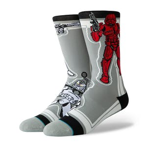 Stance Star Wars Crew Socks - Storm Trooper/Grey