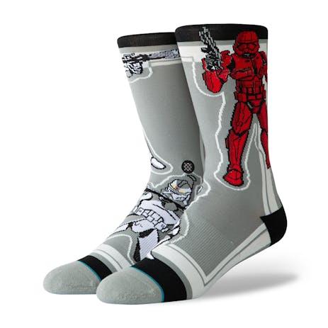 Stance Star Wars Crew Socks - Storm Trooper/Grey