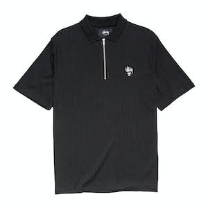 Stussy Crown Rib Polo Shirt - Black