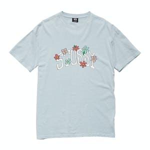 Stussy Flowers T-Shirt - Pigment Powder Blue