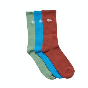 Stussy Graffiti Socks 3 Pack - Multi