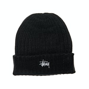 Stussy Graffiti Rib Knit Beanie - Black