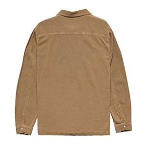 Stussy Grid Seersucker Long Sleeve Shirt - Tannin