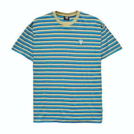 Stussy Morning Stripe T-Shirt - Airforce Blue