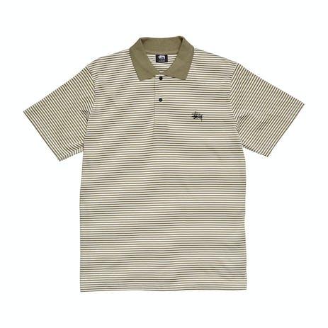 Stussy Pismo Yarn Dye Polo Shirt - Dusty Khaki