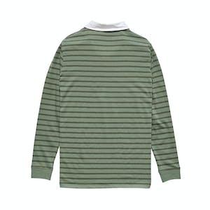 Stussy Plain Stripe Long Sleeve Rugby Shirt - Flight Green
