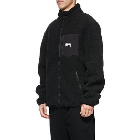 Stussy Stock Sherpa Jacket - Black