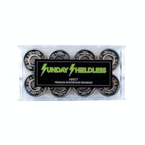 Sunday Shieldless Abec 7 Skateboard Bearings