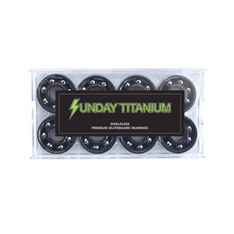 Sunday Shieldless Titanium Skateboard Bearings