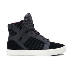 Supra Skytop Skate Shoe — Black/Tawny/Pristine