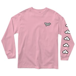 Thank You Cloudy Long Sleeve T-Shirt - Pink