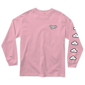 Thank You Cloudy Long Sleeve T-Shirt - Pink