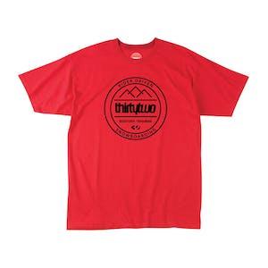 ThirtyTwo Crestline Crew T-Shirt — Tangerine