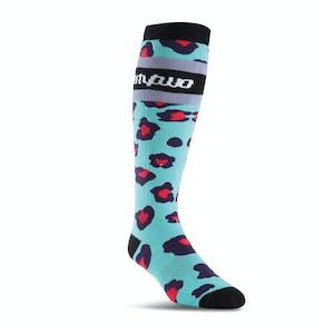 ThirtyTwo Merced Women's Snowboard Sock - Aqua