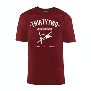 ThirtyTwo Pas Men's T-Shirt - Burgundy