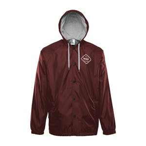 ThirtyTwo Sorren Hooded Coaches Jacket - Burgundy