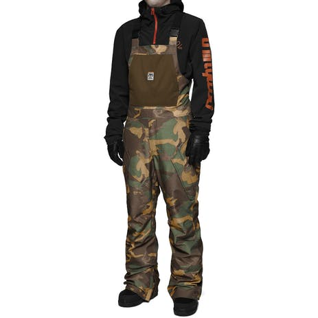 ThirtyTwo Basement Bib Snowboard Pants 2018 - Camo