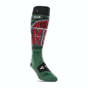 ThirtyTwo Signature Stevens ASI Snowboard Sock  - Green