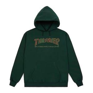 Thrasher Davis Hoodie - Forest Green