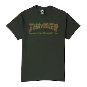 Thrasher Davis T-Shirt - Forest Green
