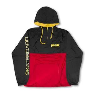 Thrasher Mag Logo Anorak Jacket - Black/Red