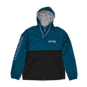 Thrasher Mag Logo Anorak Jacket - Navy/Grey