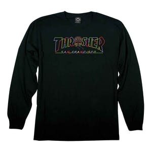 Thrasher Cable Car Long Sleeve T-Shirt - Black