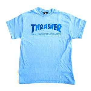 Thrasher Checkers T-Shirt - Carolina Blue