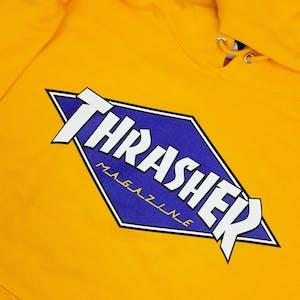 Thrasher Diamond Logo Hoodie - Gold