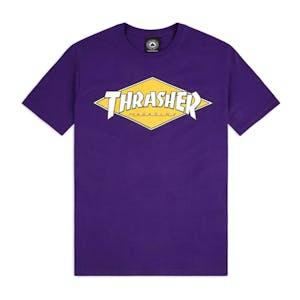 Thrasher Diamond Logo T-Shirt - Purple