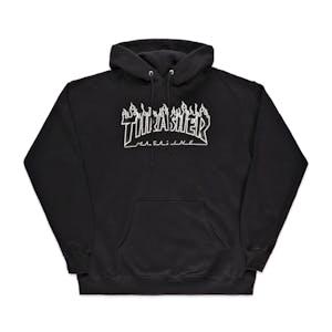 Thrasher Flame Hoodie - Black/Black
