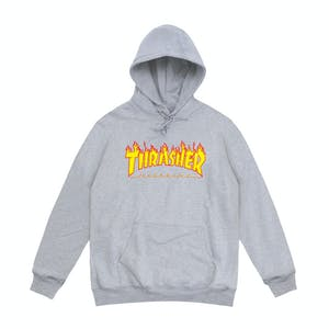 Thrasher Flame Hoodie - Light Grey