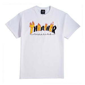 Thrasher Flame Mag T-Shirt - White
