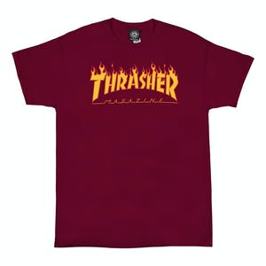 Thrasher Flame T-Shirt - Cardinal Red