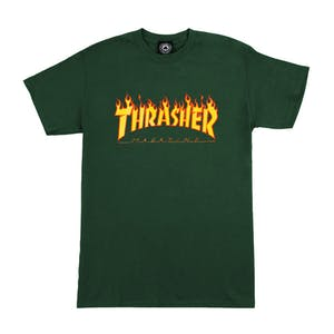 Thrasher Flame T-Shirt - Forest Green
