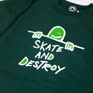 Thrasher Gonz Skate & Destroy Crewneck - Forest Green