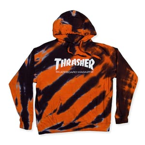 Thrasher Skate Mag Tie-Dye Hoodie – Orange/Black