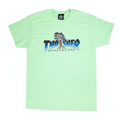 Thrasher Leopard Mag T-Shirt - Mint