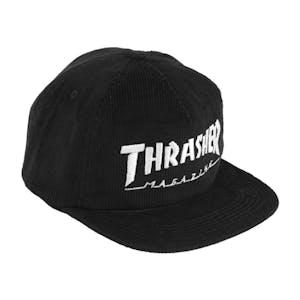 Thrasher Logo Cord Snapback - Black