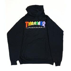 Thrasher Rainbow Mag Hoodie - Black