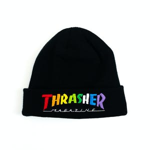 Thrasher Rainbow Mag Beanie - Black