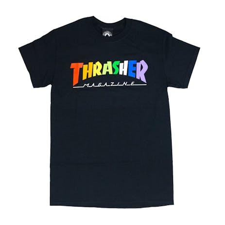 Thrasher Rainbow Mag T-Shirt - Black