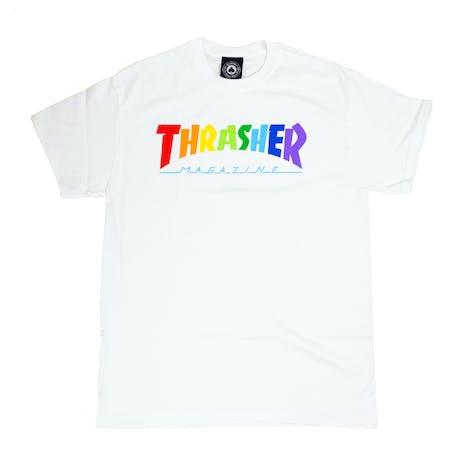 Thrasher Rainbow Mag T-Shirt - White