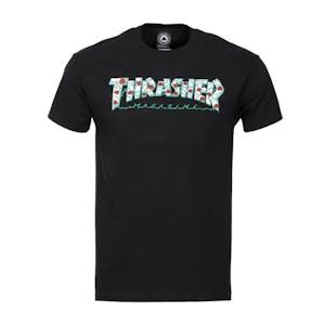 Thrasher Roses T-Shirt - Black