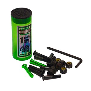 "Thunder 1"" Skateboard Hardware — Black/Green"